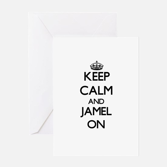 Keep Calm and Jamel ON Greeting Cards