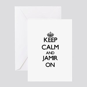 Keep Calm and Jamir ON Greeting Cards