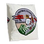 USS GRAYBACK Burlap Throw Pillow