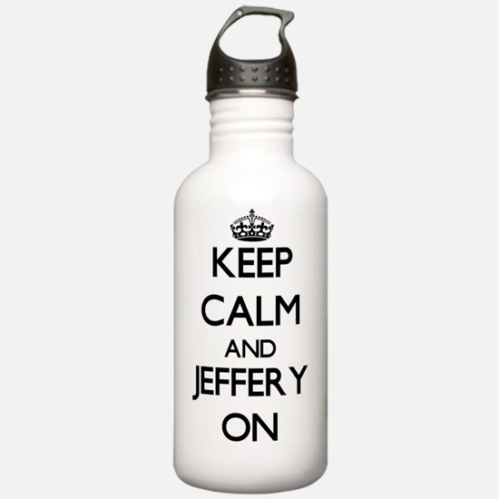 Keep Calm and Jeffery Water Bottle