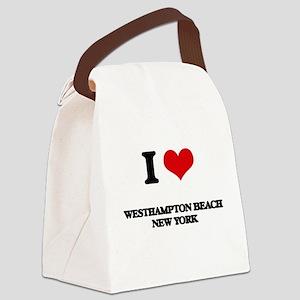 I love Westhampton Beach New York Canvas Lunch Bag