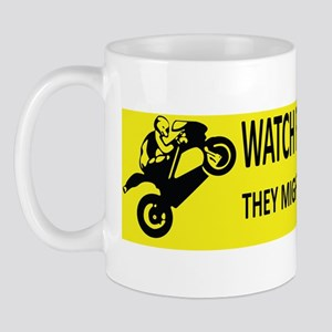 Watch For Motorcycles (Yellow) Mug