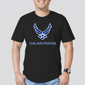 U.S. Air Force Logo Men's Fitted T-Shirt (dark)