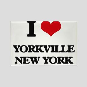 I love Yorkville New York Magnets