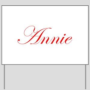 Annie-Edw red 170 Yard Sign