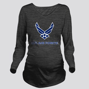 U.S. Air Force Logo Long Sleeve Maternity T-Shirt