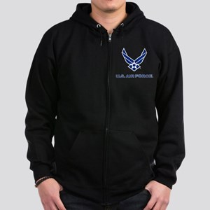 U.S. Air Force Logo Zip Hoodie (dark)