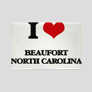 I love Beaufort North Carolina Magnets