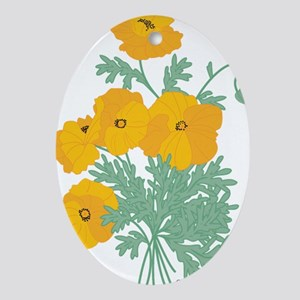 poppies Ornament (Oval)