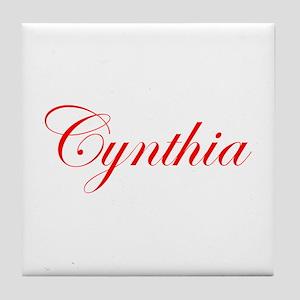 Cynthia-Edw red 170 Tile Coaster