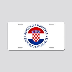 Croatia (rd) Aluminum License Plate