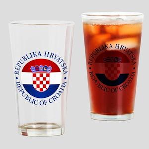 Croatia (rd) Drinking Glass