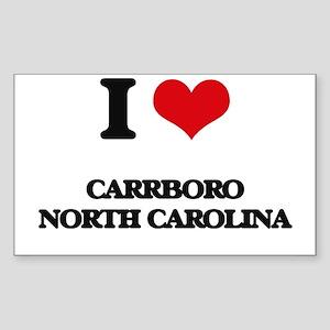 I love Carrboro North Carolina Sticker