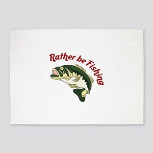 RATHER BE FISHING 5'x7'Area Rug