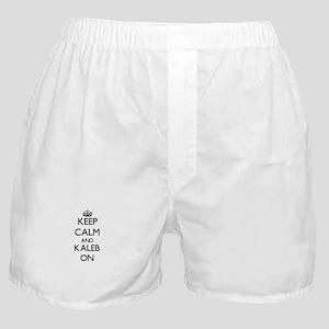Keep Calm and Kaleb ON Boxer Shorts