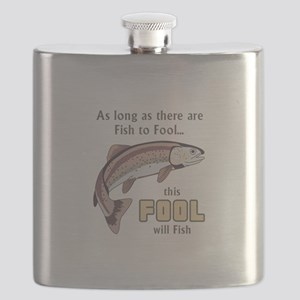 THIS FOOL WILL FISH Flask