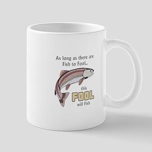 THIS FOOL WILL FISH Mugs