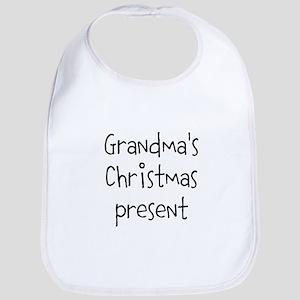 Grandmas Christmas Present Baby Bib