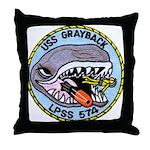 USS GRAYBACK Throw Pillow