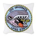 USS GRAYBACK Woven Throw Pillow