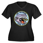 USS GRAYBACK Women's Plus Size V-Neck Dark T-Shirt
