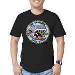 USS GRAYBACK Men's Fitted T-Shirt (dark)