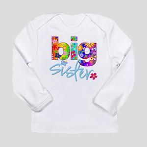 2-big sister flower back Long Sleeve T-Shirt