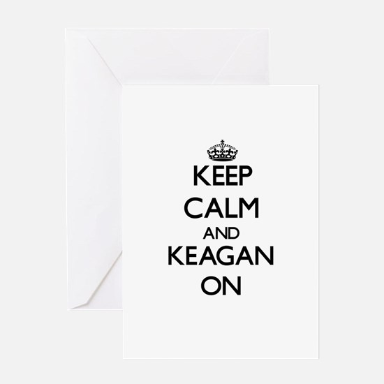 Keep Calm and Keagan ON Greeting Cards