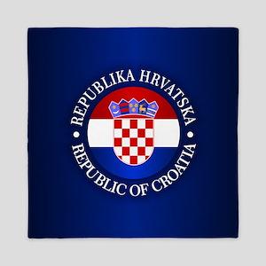 Croatia (rd) Queen Duvet