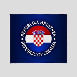 Croatia (rd) Throw Blanket