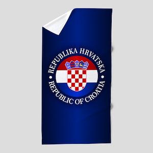 Croatia (rd) Beach Towel