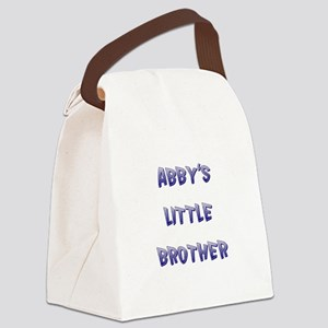 ABBY'S LITTLE BROTHER Canvas Lunch Bag