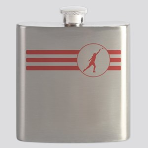 Shot Put Stripes (Red) Flask