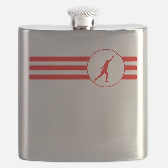 Shot Put Stripes (Red) Flask