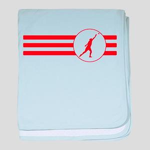 Shot Put Stripes (Red) baby blanket