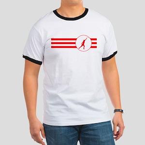 Shot Put Stripes (Red) T-Shirt