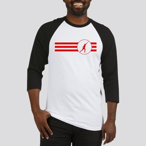 Shot Put Stripes (Red) Baseball Jersey
