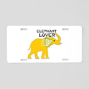 Elephant Lover Aluminum License Plate