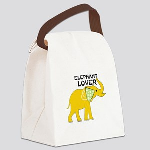 Elephant Lover Canvas Lunch Bag