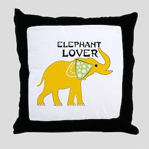 Elephant Lover Throw Pillow