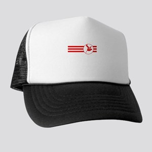 Pole Vaulter Stripes (Red) Trucker Hat