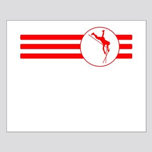 Pole Vaulter Stripes (Red) Posters