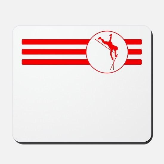 Pole Vaulter Stripes (Red) Mousepad