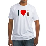 I Luv Violin Fitted T-Shirt