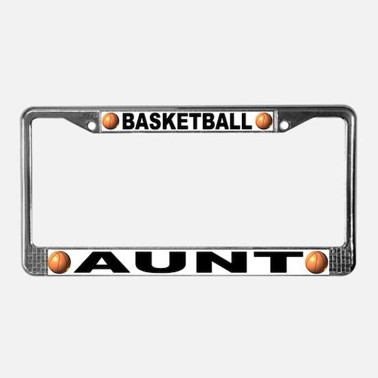Basketball Aunt License Plate Frame