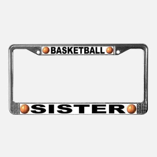 Basketball Sister License Plate Frame