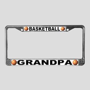 Basketball Grandpa Chrome License Plate Frame