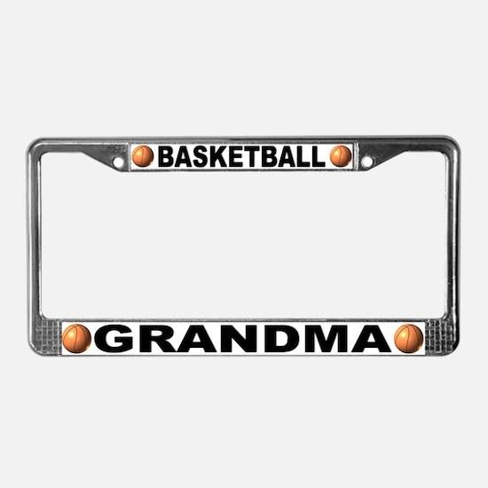 Basketball Grandma Chrome License Plate Frame