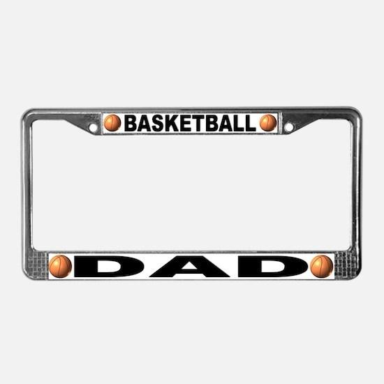 Basketball Dad Chrome Steel License Plate Frame