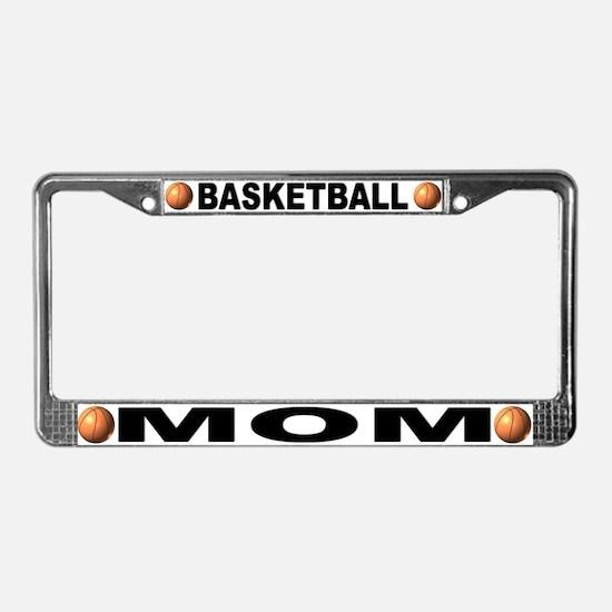 Basketball Mom Chrome Steel License Plate Frame